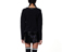 Women's Cropped Cotton Jumper BLACK AC453001