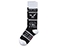Wigan Urban Aztek Logo Sock BLACK + WHITE AC468002